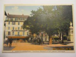 Cpa Colorisée BARCELONNETTE (04)  La Place Manuel Et Ses Grands Ombrages - Barcelonnette