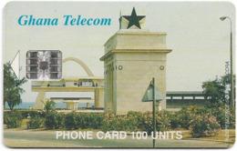 Ghana - Ghana Telecom - Independence Square, Accra - 07.2001, 100U, 60.000ex, Used - Ghana