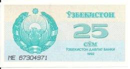 OUZBEKISTAN 25 SUM 1992 UNC P 65 - Ouzbékistan