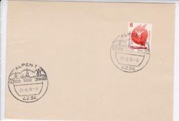 BRD. K Stempel. 4234 Alpen 1. 900 Jahre. 31.5.76 - Marcophilie - EMA (Empreintes Machines)