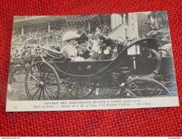 Voyage Des Souverains Belges à Paris En 1910 - Départ De La Reine Elisabeth Et De  Mme Fallières Après La Revue - Familles Royales