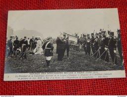 Voyage Des Souverains Belges à Paris En 1910 - Le Roi Albert, Le Président Fallières à L'hippodrome De Longchamp - Familles Royales