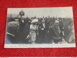 ROI ALBERT I - Voyage Des Souverains Belges à Paris En 1910 -  Le Roi , La Reine, Le Président Et Madame Fallières - Familles Royales