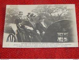 ROI ALBERT I - Voyage Des Souverains Belges à Paris En 1910 -  Le Roi Et Le Président Fallières - Koninklijke Families