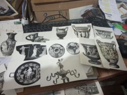 11 CARD FERRARA MUSEO VASI REPERTI CRATERE OINOCOE RHYTON CIMASA PIATTI  KYLIX   N1955  HF788 - Ferrara