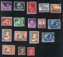 1942 Jahrgang Mi DR 811 - 827 Sn DE B201 - 511B Yt DR 735 - 710B   Gut Gest. O Siehe Scan - Deutschland