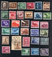 1944 - 45 Jahrgang Mi DR 864 - 910 Sn DR B251 - B293 Yt DR 783 - 826 Sg DR 852 - 898 Gut Gest. O Siehe Scan - Deutschland