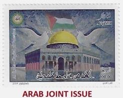ALGERIE ALGERIA 2019 - AL QUDS JERUSALEM PALESTINIAN PALESTINE CAPITAL - ARAB JOINT ISSUE - RELIGIONS DOVES MOSQUE - MNH - Emissions Communes
