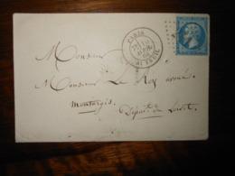 Enveloppe GC 241 Paris Auteuil - 1849-1876: Période Classique