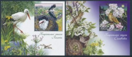 "UKRAINE, EUROPA 2019 ""National Birds"" Set Of 2 Sheetlets** - 2019"