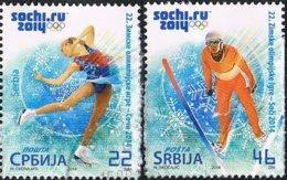 2014 - SERBIA - GIOCHI OLIMPICI INVERNALI DI SOCHI / SOCHI WINTER OLYMPIC GAMES - USATO / USED - Serbia