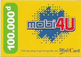 Vietnam - Mobi - Mobi4U Yellow, Prepaid 100,000₫, Exp. 31.12.2006, Used - Vietnam