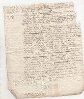 Normandie Aveu à Demoiselle De Monsures 1769 Auvilliers - Manuscripts