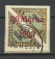 Estland Estonia 1923 Michel 44 B A O Auf D. Briefstück - Estland