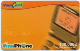 Vietnam - Vinaphone - Pay Us You Talk, Prepaid 100,000₫, Exp. 31.12.2004, Used - Vietnam