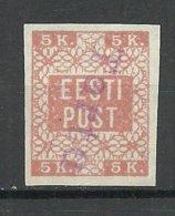 ESTLAND Estonia 1918 TARTU Provisional Line Cancel On Michel 1 - Estland