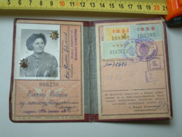 Hungarian Railway - 1954 Railway Identity Card Kiö - Toegangskaarten
