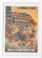 41  BLOIS  CARTE POSTALE 7 éme   FESTIVAL DE LA  BANDE DESSINEE   BD BOUM  1990  TRES  BON ETAT 2 SCANS - Cartes Postales