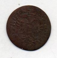 Suisse Canton FREIBURG, 1 Kreuzer, Billon, 1712, KM #34 - Schweiz
