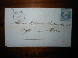 Lettre GC 192 Athies Somme Avec Correspondance - 1849-1876: Période Classique