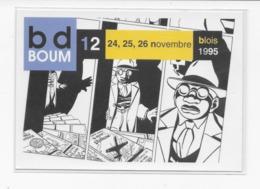 41  BLOIS  CARTE POSTALE  12  éme   FESTIVAL DE LA  BANDE DESSINEE   BD BOUM  1995  TRES  BON ETAT 2 SCANS - Livres, BD, Revues
