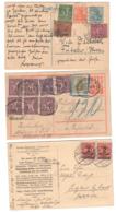 Inflation , 3 Karten , Einmal Nachporto - Deutschland