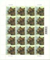 Estland Estonia 2009 Brown Bear Bär Michel 643 Complete Sheet MNH - Estland