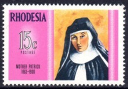 Rhodesia - 1970 Famous Rhodesians Mother Patrick (**) # SG 457 - Rhodesia (1964-1980)