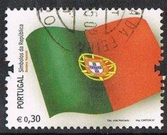 2007 - PORTOGALLO / PORTUGAL - BANDIERA PORTOGHESE / PORTUGUESE FLAG - USATO / USED - 1910 - ... Repubblica