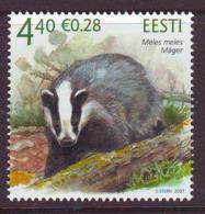 Estland 2007.  Estonian Fauna - The Badger. MNH. Pf. - Estland