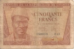 GUINEE 50 FRANCS 1958 VG+ P 6 - Guinee