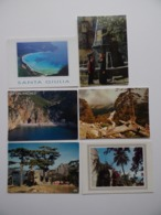 CORSE Santa-Giulia Groupe Folklorique A.Manella Calanches Vergio Bavelle Eglise Latine Lot De 6 Cartes Postales - Corse