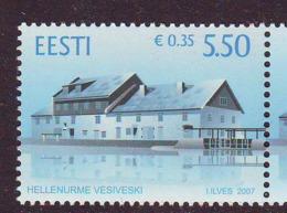 Estland 2007. Hellenurme Water Mill . MNH. Pf. - Estland