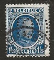 Timbre Belgique Perforé CGL - Perfins