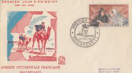 Enveloppe  FDC  1er  Jour   AFRIQUE  OCCIDENTALE  FRANCAISE    Inauguration  De  NOUAKCHOTT   MAURITANIE    1958 - A.O.F. (1934-1959)