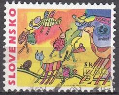 Slovensko 2000 Michel 370 O Cote (2009) 0.30 Euro UNICEF Dessin D'enfant Cachet Rond - Oblitérés