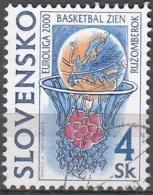Slovensko 2000 Michel 366 O Cote (2009) 0.20 Euro Basketball Cachet Rond - Oblitérés