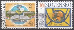 Slovensko 1999 Michel 344 - 345 O Cote (2009) 1.10 Euro 125 Ans UPU Cachet Rond - Slovaquie