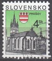 Slovensko 1998 Michel 326 O Cote (2009) 0.20 Euro Eglise De Prešov Cachet Rond - Slovaquie
