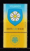 Estland 2007.Coat Of Arms Of Viljandi. MNH. Pf. - Estland