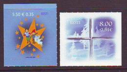 Estland 2007. Merry Christmas. 2 W. MNH. Pf. - Estland