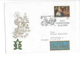 22481 - Christkindl 1989 Pour Baden  24.12.1989 Stille Nacht + Vignette - Noël