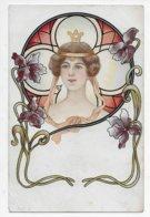 Art Nouveau Greetings - Undivided Back - Birthday