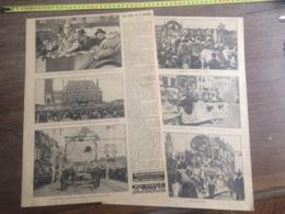 1923-1928 LES FETES DE LA DENTELLE A CALAIS CHAR DE L ARAIGNEE DENTELLIERE CROIX DE GUERRE A SOLESME - Oude Documenten