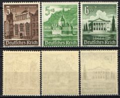 GERMANIA TERZO REICH - 1940 - EDIFICI - SOCCORSO INVERNALE - MNH - Deutschland
