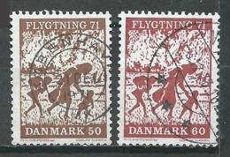 Danemark YT N°515/516 Aide Aux Réfugiés Oblitéré ° - Denmark