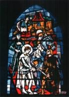 CPM 88 (Vosges) Domrémy-la-Pucelle - église Paroissiale. Vitrail De JP Gaudin : 1 Jeanne D'Arc à Vaucouleurs TBE - Domremy La Pucelle