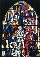 CPM 88 (Vosges) Domrémy-la-Pucelle - église Paroissiale. Vitrail De JP Gaudin : 2 Jeanne D'Arc à Chinon TBE - Domremy La Pucelle