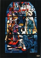 CPM 88 (Vosges) Domrémy-la-Pucelle - église Paroissiale. Vitrail De JP Gaudin : 4 Jeanne D'Arc à Reims TBE - Domremy La Pucelle