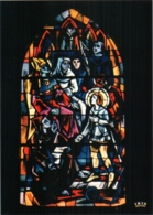 CPM 88 (Vosges) Domrémy-la-Pucelle - église Paroissiale. Vitrail De JP Gaudin : 5 Le Procès De Rouen TBE - Domremy La Pucelle